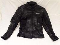 Ladies motorcycle leather jacket - Size 12.