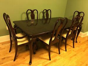 Gibbard Canadian Legacy Mahogany Rectangle Dining Setting Regal