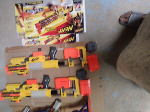 NERF-35 DART HIGHEST SPEED GUNS for sale-PRICE IS FIRMTwo big w
