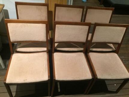 6 x Stunning Vintage Noblett Furniture Dining Chairs