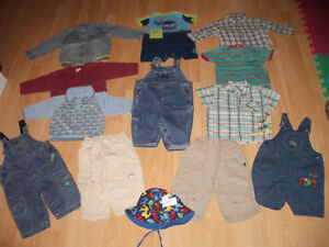 LOT - 13 - items of clothes for baby - BOY ----- size 12 - 18 m