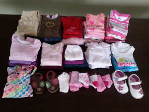 Box of assorted Baby Girl Clothes (3-12 mts)
