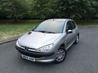 PEUGEOT 206 S --- LONG MOT --- IDEAL FIRST TIME OR LEARNER CAR --- FREE DELIVERY --- P/X WELCOME