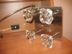Used Lighting Fixture - Stainless Steel & Glass