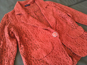 Lace Orange Blazer