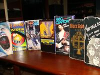 7 classic vhs rock documentary/ concerts