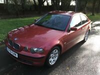 2001 BMW 316 SE Compact-1 previous owner-74,000-full history-July 18 mot-great value