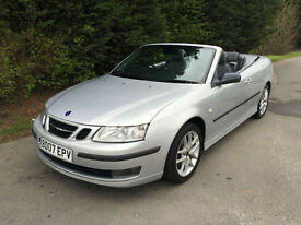 2007 SAAB 9-3 2.0 TURBO VECTOR SPORTS CONVERTIBLE 5 SPEED MANUAL