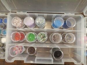 Huge assortment of beads in large case Cambridge Kitchener Area image 3