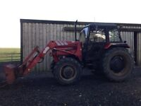 Case 1394 4wd tractor, Commemorative edition with front loader and quick hitch. No VAT