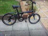 "20"" wheeled fold up bike"