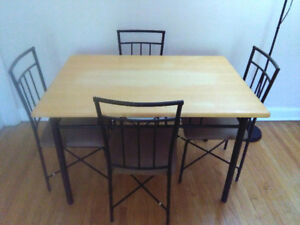 Dining kitchen dinner table set with 4 chairs