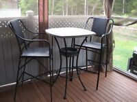 Patio table and stool set