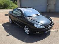 2002 Peugeot 206cc 1.6 Convertible Cabriolet Panther Black Auto Automatic