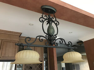 For Sale!  Coorindating Kitchen Island and Kitchen Dining Light