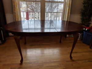 Dining Table - solid cherry wood with insert