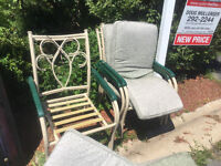 Free patio chairs with cushions!