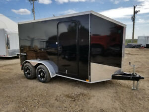 TAX INCLUDED! New Impact Trailers 7x12 V nose Cargo trailer