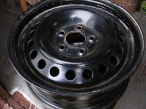 4-  15''   5  hole  Black Steel Rims  ( Like New )