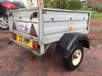 Trailer / Galvanised indespension trailer 4ftx3ft / rear door / Erde