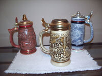 AVON BEER HISTORICAL STEINS BRAND NEW FROM THE 1980s