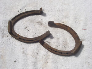 Small Hand Forged Vintage Horse Shoes