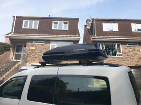 EXODUS ROOF BOX LARGE 470L BLACK GLOSSY MADE BY THULE USED TWICE