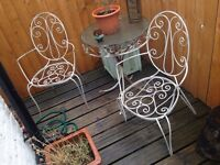 Set of garden furniture - table and 2 chairs