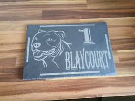 Personalised slate table gift door plaque sign