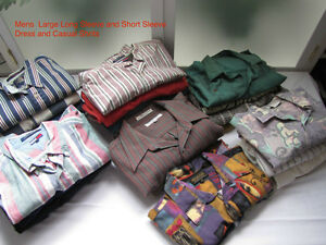 Men's Large Long and Short Sleeve Shirts