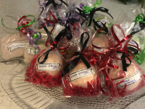 All natural organic hand crafted bath bombs