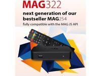 ORIGINAL AND BEST 2018 MODEL-MAG 322/323 LATEST Linux OTT ORIGINAL INFOMIR/OPENBOX /SMARTTV