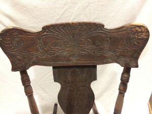 Rocking chair, solid wood