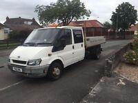 2001 ford transit crew cab tipper £1500 no vat!