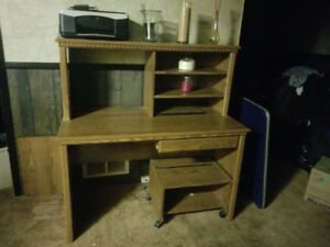 DESK HUTCH & STAND FOR PRINTER $25.00