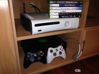 XBOX 360 + 2 CONTROLLERS + Headset + Games