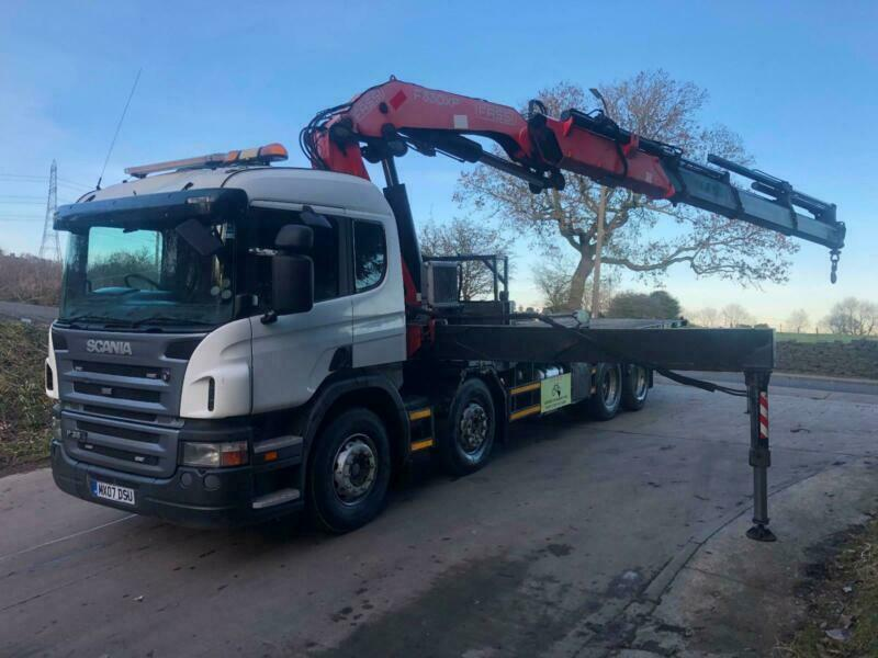 fb4cda678b 2007 Scania P380 8x2sleeper cab 24 30ft flat