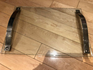 Glass and Silver Serving Tray
