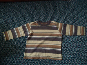 Boys Size 2 Striped Long Sleeve Cotton T-Shirt