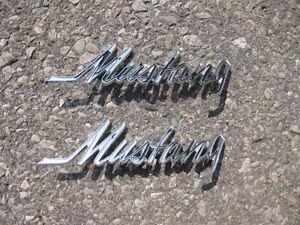 1968 - 72 Ford Mustang Script fender emblems