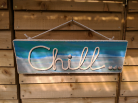 Chill Sign With LED Lights