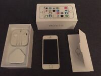 iPhone 5s, White/Silver, 16 gb, unlocked, boxed