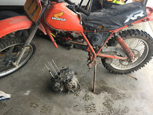 Parting out a 1984 Honda XR200