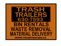 Waste Removal, Bin Rentals, Material Delivery - TRASH TRAILERS