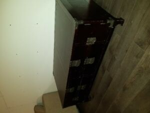 Rectangular Wood Coffee Table with Metal Accents (Structube)