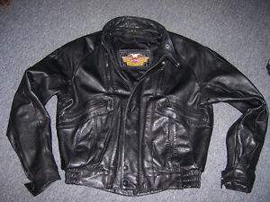 Genuine Leather Harley Motorcycle Jacket