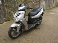 2009 Aprilia Sport city cube 125cc learner legal 125 cc scooter. 1 Year MOT. Low miles. New tyres.