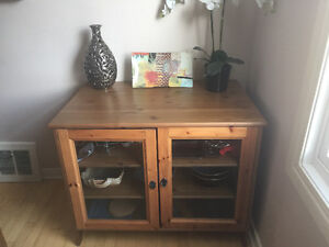IKEA vintage look cabinet with glass front