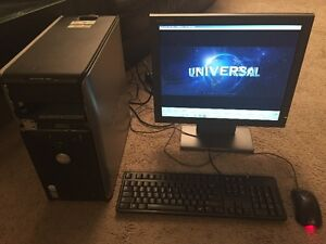 Desktop DELL + 19'' Monitor with Windows7 and Office