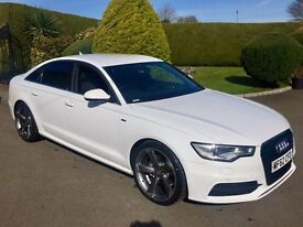 AUDI A6 2.0 TDI S-LINE, 2012, IBIS WHITE, FULL LEATHER **FINANCE FROM £70 PER WEEK**